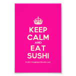 [Crown] keep calm and eat sushi  Photo Prints