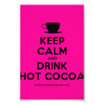 [Cup] keep calm and drink hot cocoa  Photo Prints