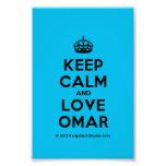 [Crown] keep calm and love omar  Photo Prints