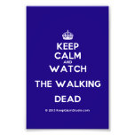 [Crown] keep calm and watch the walking dead  Photo Prints