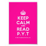 [Crown] keep calm and read p.y.t  Photo Prints