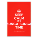 [Crown] keep calm it's bunga bunga time  Photo Prints