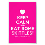 [Love heart] keep calm and eat some skittles!  Photo Prints