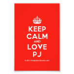 [Crown] keep calm and love pj  Photo Prints