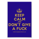 [Dancing crown] keep calm and don't give a fuck  Photo Prints