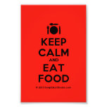 [Cutlery and plate] keep calm and eat food  Photo Prints