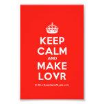 [Crown] keep calm and make lovr  Photo Prints