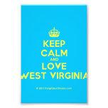 [Crown] keep calm and love west virginia  Photo Prints