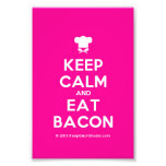 [Chef hat] keep calm and eat bacon  Photo Prints