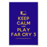 [Computer] keep calm and play far cry 3  Photo Prints