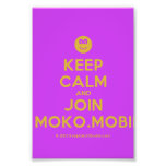 [Smile] keep calm and join moko.mobi  Photo Prints