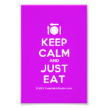 [Cutlery and plate] keep calm and just eat  Photo Prints