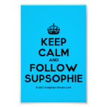 [Crown] keep calm and follow supsophie  Photo Prints