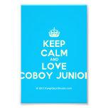 [Crown] keep calm and love coboy junior  Photo Prints