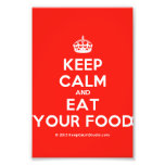 [Crown] keep calm and eat your food  Photo Prints