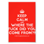 [Crown] keep calm and where the fuck did you come from?!  Photo Prints