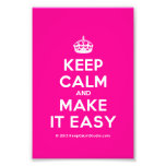 [Crown] keep calm and make it easy  Photo Prints