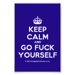 [Crown] keep calm and go fuck yourself  Photo Prints