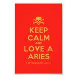 [Skull crossed bones] keep calm and love a aries  Photo Prints