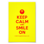 [Smile] keep calm and smile on  Photo Prints
