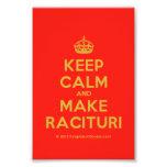 [Crown] keep calm and make racituri  Photo Prints