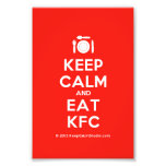 [Cutlery and plate] keep calm and eat kfc  Photo Prints