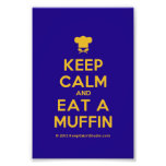 [Chef hat] keep calm and eat a muffin  Photo Prints