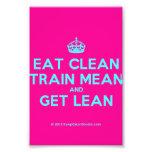 [Crown] eat clean train mean and get lean  Photo Prints