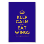 [Crown] keep calm and eat wings  Photo Prints