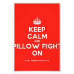 [Crown] keep calm and pillow fight on  Photo Prints