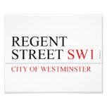 REGENT STREET  Photo Prints