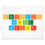 Periodic table writer chemistry elements my fun studio periodic table writer photo prints urtaz Choice Image