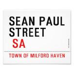 Sean paul STREET   Photo Prints