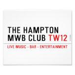 the Hampton  MWB Club  Photo Prints