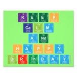 KEEP CALM AND HAPPY BIRTHDAY  Photo Prints