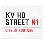 KV HD Street  Photo Prints