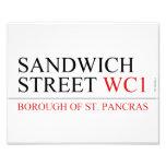 SANDWICH STREET  Photo Prints