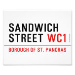 Sandwich Street  Photo Prints