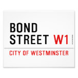 BOND STREET  Photo Prints