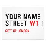 Your Name Street  Photo Prints