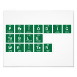 Periodic Table Writer  Photo Prints