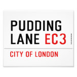 PUDDING LANE  Photo Prints