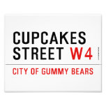 cupcakes Street  Photo Prints
