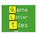 Game Letter Tiles  Photo Prints