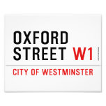 oxford street  Photo Prints