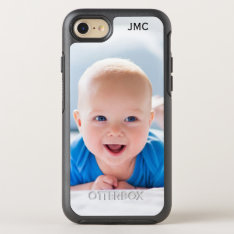 Photo Protective Phone With Monogram Otterbox Symmetry Iphone 8/7 Case at Zazzle