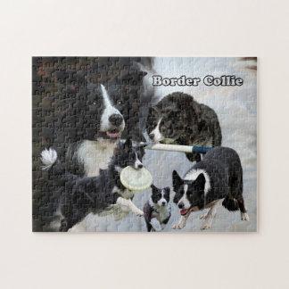 photo puzzle border collie collage