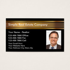 Photo Real Estate Business Cards at Zazzle