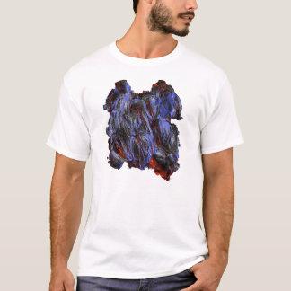 Photo Realistic Lava on White T-Shirt