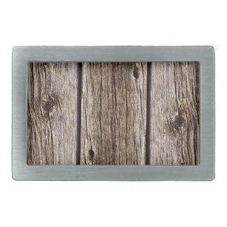 Photo Realistic Rustic, Weathered Wood Board Belt Buckle